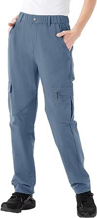 Rdruko Women's Hiking Pants Water-Resistant Quick Dry UPF 50 Travel Camping Pants 4 Pockets