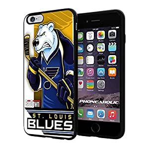 diy zhengNHL St. Louis Blues , Cool iPhone 6 Plus Case 5.5 Inch Smartphone Case Cover Collector iphone TPU Rubber Case Black