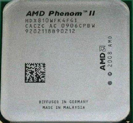 AMD Phenom II X4 810 2.6GHz Quad-Core Socket AM3 Processor CPU HDX810WFK4FGI