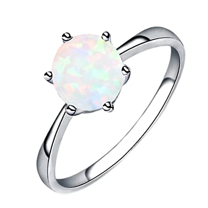 e60ea6326d Amazon.com: Opal Ring Fashion Women Jewelry Filled Wedding ...