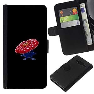 LECELL--Cuero de la tarjeta la carpeta del tirón Smartphone Slots Protección Holder For Samsung Galaxy Core Prime -- Vileplume P0kemon --