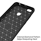 MaiJin Case for Xiaomi Redmi Note 5A / Redmi Note5A Prime/Redmi Y1 / Redmi Y1 Lite (5.5 inch) Soft Silicon Brushed with Texture Carbon Fiber Design Protection Cover