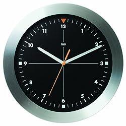 Bai Brushed Aluminum Wall Clock, Formula One Black