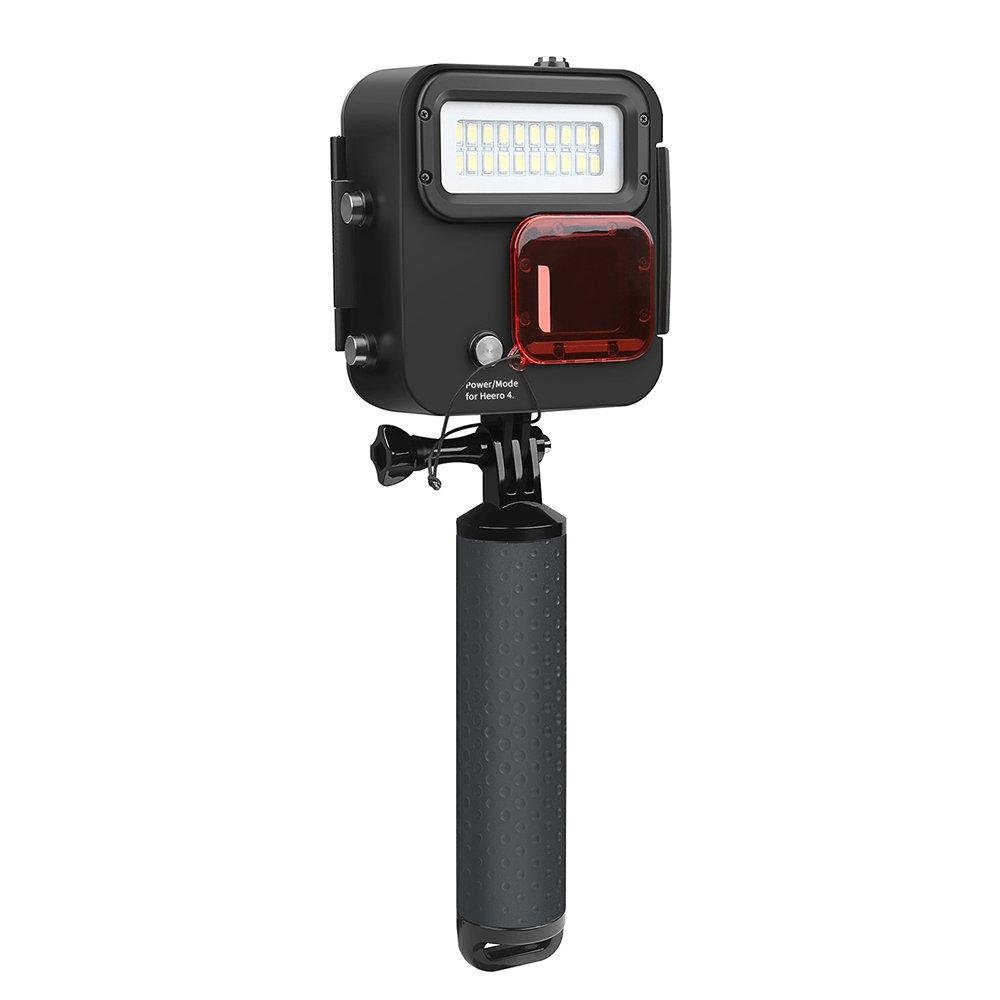 Docooler Shoot XT gp435カンガルーハンドヘルドダイビングライト40 M防水水中LEDフィルライトGoPro Hero 6 /5 /4 /3 +アクションスポーツカメラ   B07CVBWKM9