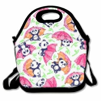 67cef15d2cab Amazon.com: Jingclor Cute Panda Red Umbrella Insulated Portable ...