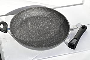 "2016 Germany's Stoneline Xtreme Series Large 12.8"" (32cm) Fry Pan with Lid, Non-stick, Non-Toxic Stone Coating Cookware - 2016 Top of the line model, better taste food, induction ready"