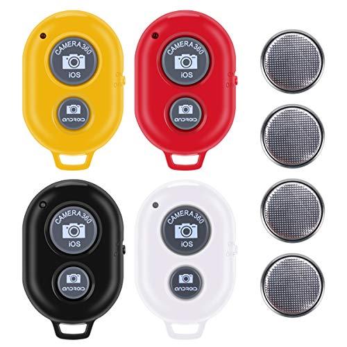Bluetooth Camera Remote Shutter Control for Smartphones (4 Pack), Tranesca Bluetooth Camera Remote Controller Compatible…