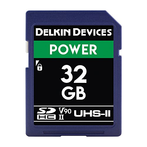 Delkin Devices 32GB Power SDHC 2000X UHS-II (U3/V90) Memory Card (DDSDG200032G)