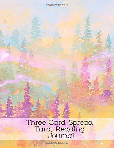 Three Card Spread Tarot Reading Journal: 3 Card Linear