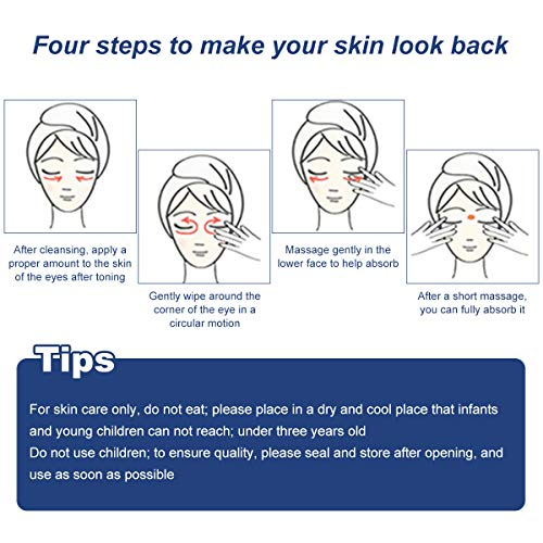 519fe04wEGL - Under Eye Cream, Eye Repair Cream, Anti-Aging Eye Cream, Eye Cream for Dark Circles & Puffiness & Under Eye Bags, Nourishes Skin & Fights Wrinkles, Rapid Wrinkle Repair Eye Skin