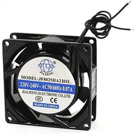 80 mm x 80 mm x 26 mm 220V 240V DealMux 2-Wire struttura in metallo AC flusso assiale ventola di raffreddamento 0,07 Amp