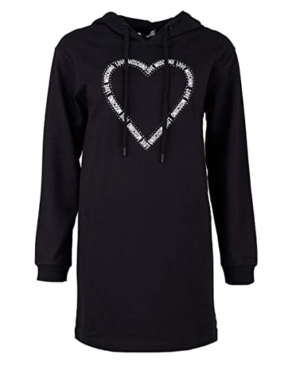 b1e95bebb03 Love Moschino Love Heart Logo Sweat Dress  Amazon.co.uk  Clothing