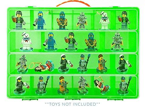 Life Made Better Lego Ninjago Green Display Case, Figures Carrying Box (Green)