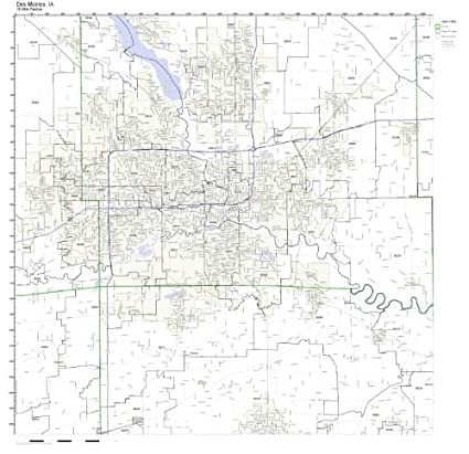 Amazon.com: Des Moines, IA ZIP Code Map Laminated: Home & Kitchen