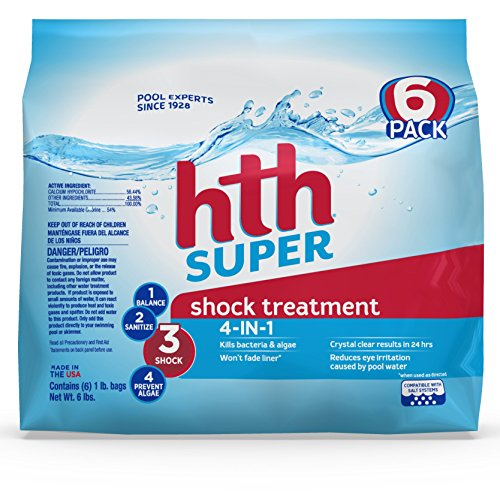 Swimming Pool Water Treatment - hth Pool Shock Super Shock Treatment 6 count 6lbs (52008)
