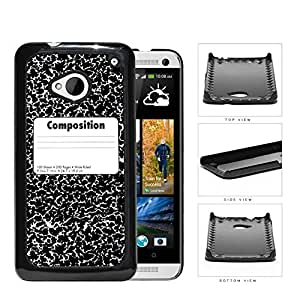 Composition Notebook Hard Plastic Snap On Cell Phone Case HTC One M7