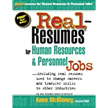 Real-Resumes for Human Resources & Personnel Jobs