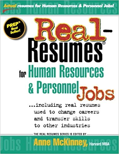 Real-Resumes for Human Resources & Personnel Jobs: Anne