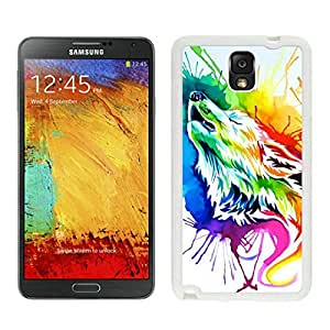 BINGO top selling Rainbow wolf Samsung Galaxy Note 3 Case White Cover