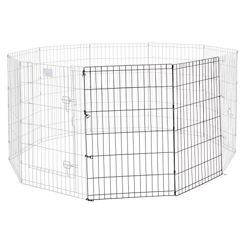 MidWest Homes for Pets Universal Pet Playpen 2-Panel Extension Kit | Fits Metal 36-Inch Dog Pens | Kit Measures 36H x 47.50W Inches | Includes 4 Thumb Snaps, 2 Ground Stakes