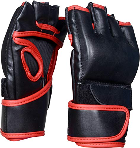 Ride-Inc MMA Gloves Grappling Martial Arts Sparring Punching Bag Cage Fighting Maya Hide Leather Mitts UFC Combat Training from Ride-Inc