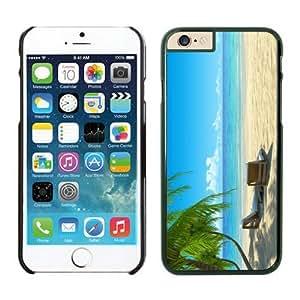 Cheap No Minimum Chairs on Beach W Palmtrees iPhone 6 Plus Case Black