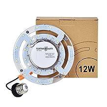 LUMINOSUM LED Retrofit for 8-Inch Flush Mount Ceiling Light, 12W(80W Equivalent), 980lm, 5000K, 90-265V, Circline Bulb Replacement for Ceiling Light, Fan Light, Downlight