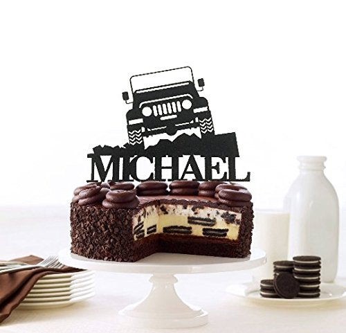 Off Road Jeep Personalized Cake Topper, Off-Road Toppers, Custom 4x4 Truck Toppers, Off Road Jeep Birthday Topper, Truck Jeep Boy's Birthday Truck Jeep Boy' s Birthday