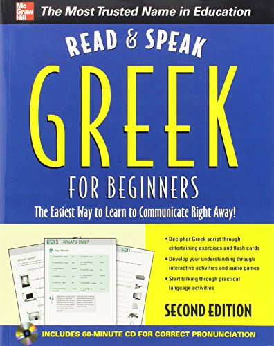 Read and Speak Greek for Beginners with Audio CD, 2nd Edition (Read and Speak Languages for Beginners) by McGraw-Hill