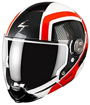 CASCO OVER ENDURO modular moto CROSS scooter SCORPION EXO 300 GRID mentoniera extraíble, talla XS