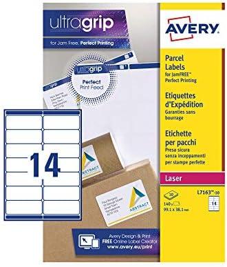 UltraGrip Avery L7163 per stampanti laser 1400 etichette Etichette autoadesive per indirizzi 14 etichette per foglio A4