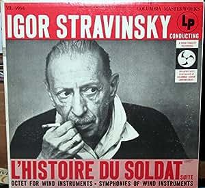 IGOR STRAVINSKY Conducts L'Histoire Du Soldat suite LP Columbia ML 4964 6-eye