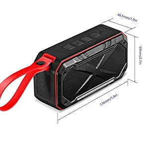 Waterproof Bluetooth Speakers,MARSEE Waterproof IPX7 and Shockproof,Portable Wireless Bluetooth Speakers with HD Sound and Bass,2000 mAh Rechargeable Battery & Built-in Mic,Outdoor Bike Speakers