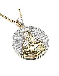 "Hip Hop Jewelry Gold Platinum Plated Pendant Iced Out Rolex Crown CZ Pendant Necklace 30"""