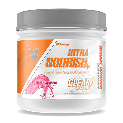 Interval Nutrition Intra Nourish Plus Clear All Natural Energy, Endurance, and Performance Workout Powder – Raspberry Lemonade (20 Servings)