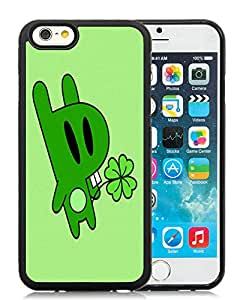 Beautiful DIY Designed With Irish Rabbit Cover Case For iPhone 6 4.7 Inch TPU Black Phone Case CR-316