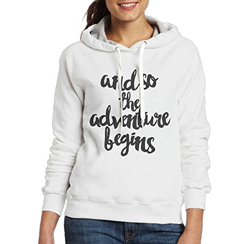 SmallTing Women Adventure Casual Style Jogging White Hoody XXL