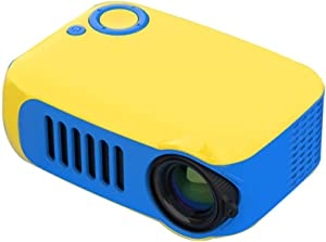 Portable Mini Projector LED Micro Projector Home Party Meeting Theater Projector,Yellow