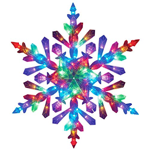 Lighted Snowflake Decorations Outdoor in US - 4