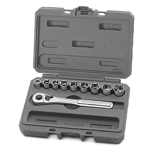Craftsman 10 Piece 6 Pt. 3/8 Inch Dr. Metric Socket Wrench Set, 9-34554