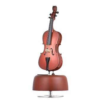 ammoon Clásico Violación de Violonchelo Caja de Música Con Rotación Base Musical Instrument Miniature Regalo de Artware de la Reproducción: Amazon.es: ...