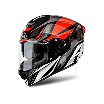 Airoh Integral casco moto casco St 501 Thunder Red Gloss S