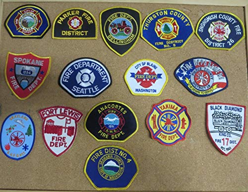 WASHINGTON ST. FIRE/RESCUE DEPARTMENT PATCHES! SET TWO! LOT OF 14!