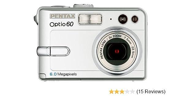 amazon com pentax optio 60 6mp digital camera with 3x optical zoom rh amazon com Pentax Optio 30 Pentax Optio E10 Drivers