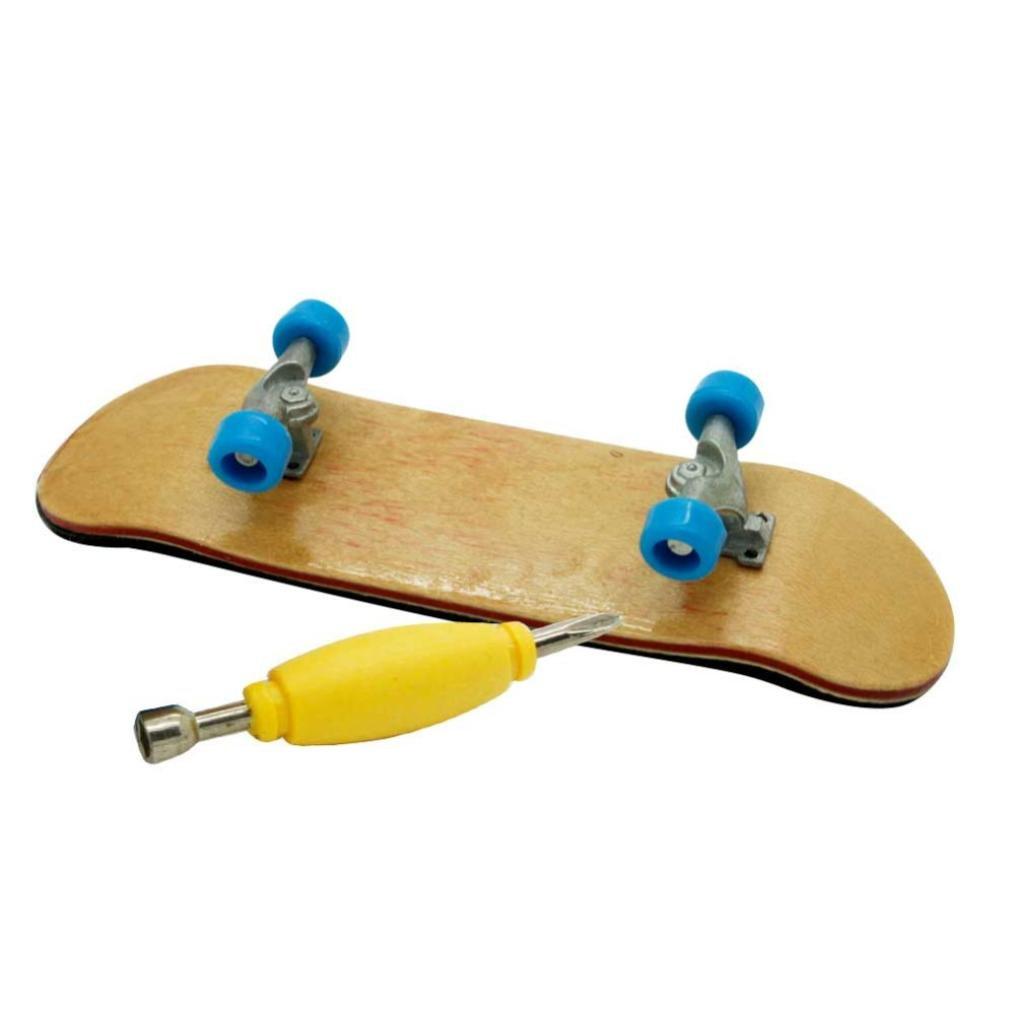HARRYSTORE Holz Finger Skateboard Mini Ahorn Fingerboards Finger Skateboard Ahorn Holz Skate Board Kinder Spielzeug genie/ßen Finger Spa/ß Spielzeug