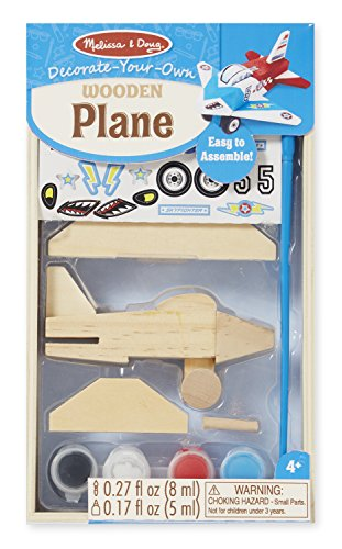 Melissa & Doug Decorate-Your-Own Wooden Plane Craft Kit (Building Kits Wood Boys)