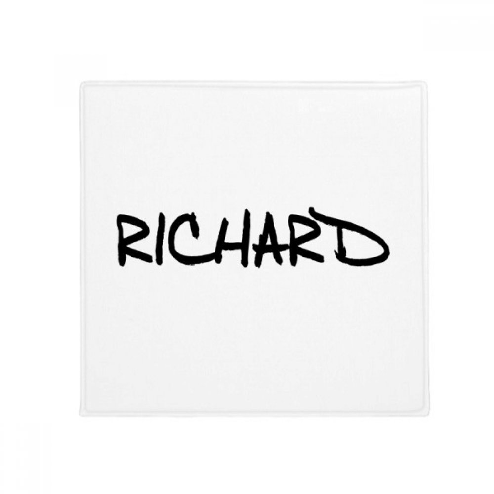 DIYthinker Special Handwriting English Name Richard Anti-Slip Floor Pet Mat Square Home Kitchen Door 80Cm Gift