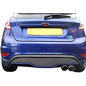 Zunsport Compatible Ford Fiesta ST Mk 7.5 - Rear Grille - Silver Finish (2013 to 2017)