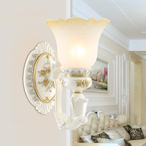 Edge To European Bedside Lamp Wall Lamp Stairway Aisle Corridor Retro Luxury Living Room Background Wall Creative Wall Lamp (Color : Single head) by Edge To (Image #1)