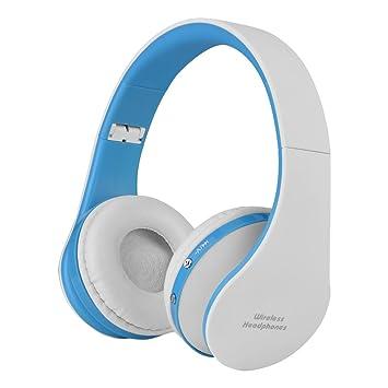 VBESTLIFE Auriculares de Diadema Plegable Inalámbricos Bluetooth 4.1 Audio de Alta Fidelidad y HiFi, Almohadillias de Protección Cómodo,para Deporte,Juego ...